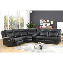 Stanford 6-Piece Sectional Sofa, Black