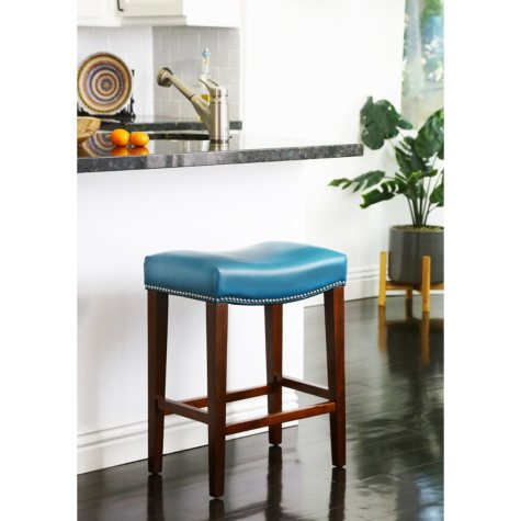 Santillo Leather Counter Stool (Assorted Colors)