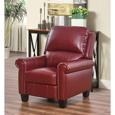 Crystal Red Pushback Recliner