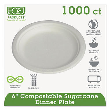 Eco-Products Compostable Plate, 6