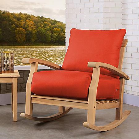 Sonoma Teak Deep Seating Rocker With Cushion (Various Colors)