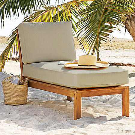 Catalina Teak Sectional Lounger with Cushion