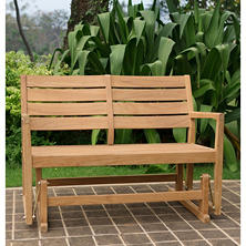 Madison Collection Teak Glider Bench