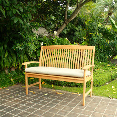 4' Teak Bench with 2