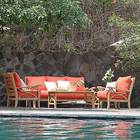 Catalina Teak 5-Piece Sofa Set (Various Colors)