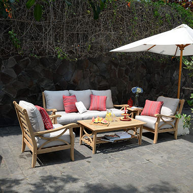 5-Piece Teak Sofa Set, Various Colors