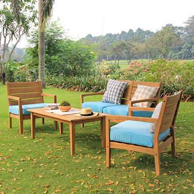 Madison Collection 4-Piece Teak Sofa Set