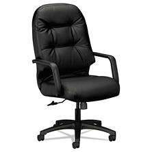 HON - Leather 2090 Pillow- Soft Series Executive High- Back Swivel/Tilt Chair - Black