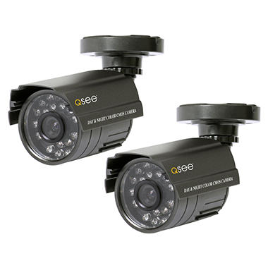 Q-See 2 Pack Color Day and Night Cameras with 40 feet of Night Vision each