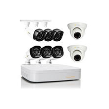 Q-See 8 Channel High Definition 720p Security System with 1TB Hard Drive, 6 720p Bullet Cameras, 2 720p Dome Cameras, and 80'Night Vision