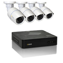 Q-See 4-Channel 3MP HD IP NVR Security System with 2TB Hard Drive, 4 3MP Weatherproof Cameras with 100' Night Vision