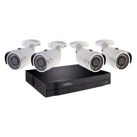 Q-See 4-Channel 1080p NVR Surveillance System with 1TB Hard Drive, 4-Camera 1080p Indoor/Outdoor Cameras