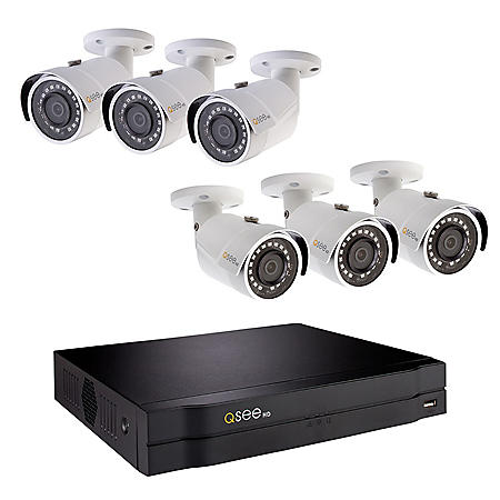 Q-See 8-Channel 1080p NVR Surveillance System with 2TB Hard Drive, 6-Camera 1080p Indoor/Outdoor Cameras