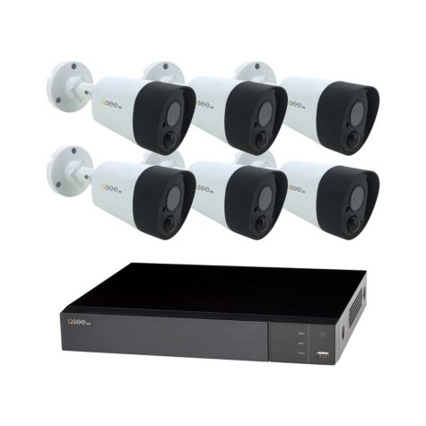 Q-See 8-Channel 5MP DVR Surveillance System with 2TB Hard Drive, 6-Camera 5MP Indoor/Outdoor Cameras