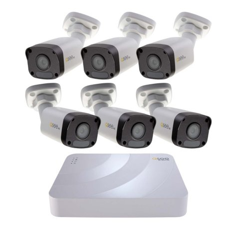 Q-See 1080P HD 8 Channel IP Security System with 2TB Hard Drive and 6 1080P IP Bullet Cameras