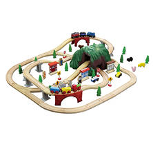 Mountain Wooden Train Set