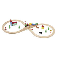 37 Piece Figure 8 Wooden Train Set