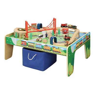 50 Piece Train Set With Train Play Table Brio And