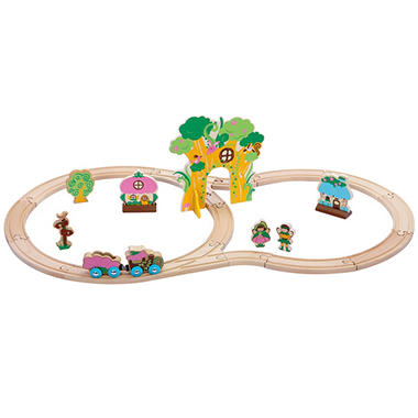 Secret Forest Wooden Train Set (28 pc.)  sc 1 st  Samu0027s Club & Secret Forest Wooden Train Set (28 pc.) - Samu0027s Club