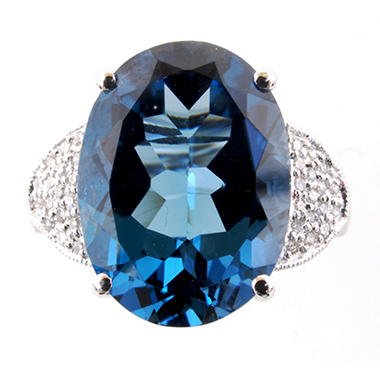 11 ct. London Blue Topaz & Diamond Ring