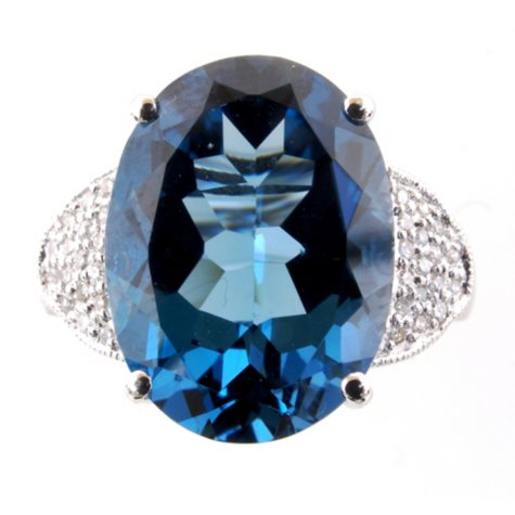 11 ct. London Blue Topaz & Diamond Ring
