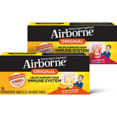 Airborne Effervescent Tablets, Various Flavors (36 ct.)