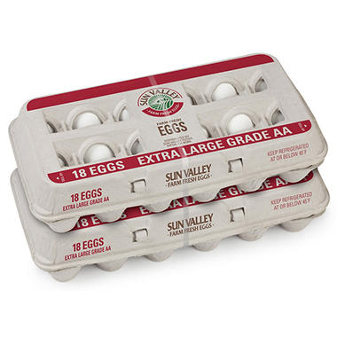 Sun Valley Extra Large Grade AA Eggs (36 ct.)