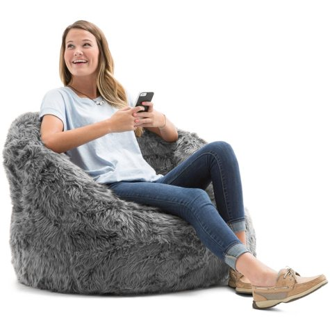 Big Joe Shag Fur Milano Bean Bag Chair (Assorted Colors)