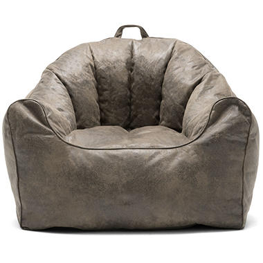 Joe Large Hug Bean Bag Chair Cement And Espresso