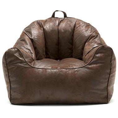 Big Joe Large Hug Bean Bag Chair Cement And Espresso