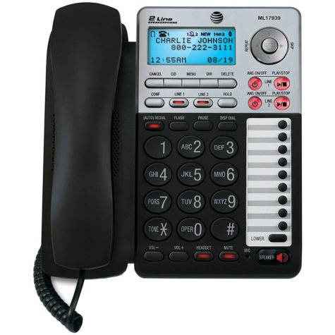 AT&T ML17939 2-Line Corded Speakerphone
