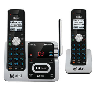 AT&T TL92271 DECT 6.0 Expandable 2-Handset Cordless Telephone with Answering System