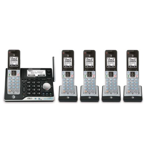 AT&T 5 Handset Answering System with Bluetooth Connect to Cell and Caller ID/Call Waiting