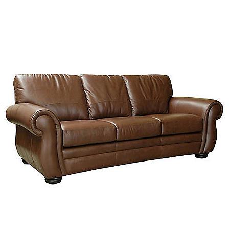 Florence Leather Sofa Amp Recliner Chestnut Sam S Club