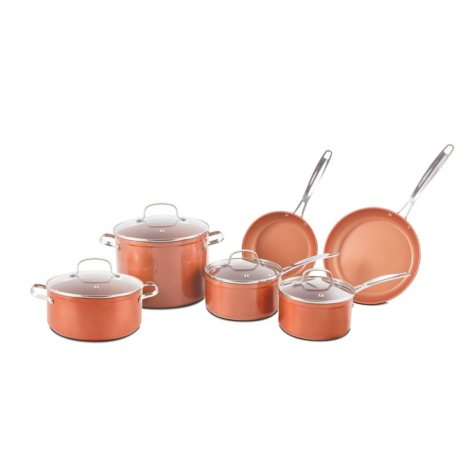 NuWave 31422 Duralon 10-Piece Forged Aluminum Nonstick Cookware