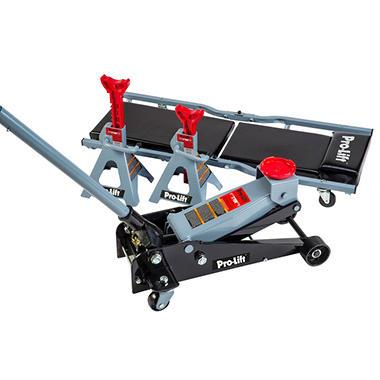 pro lift 3-ton garage jack, jack stand & creeper combo - sam's club