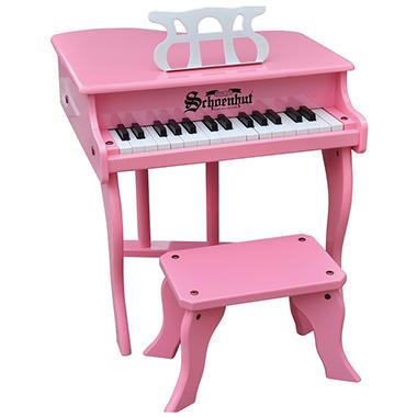 Schoenhut 30 Key Fancy Baby Grand Piano   Pink