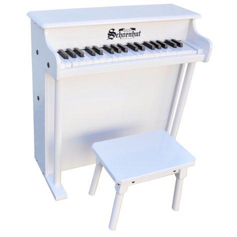 Schoenhut 37-Key Traditional Deluxe Spinet-White
