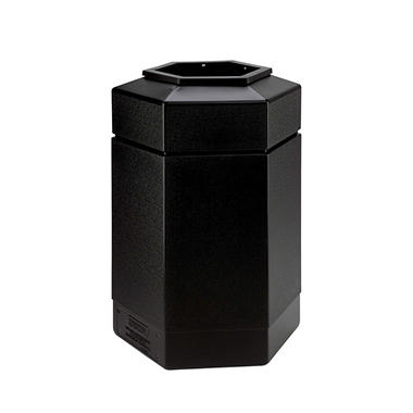 Commercial Zone Hex Trash Can - Black - 30 gal.