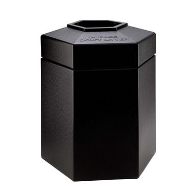 Commercial Zone Hexagon Trash Can (Choose Your Size & Color)