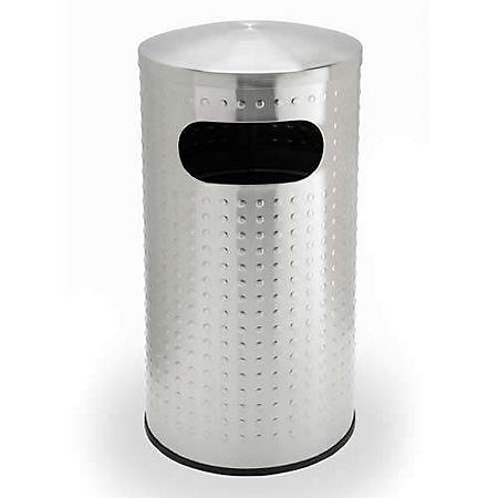 Precision Series Protrusion Wastebasket - Stainless Steel - 15 gal.