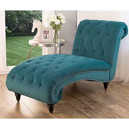 Tiffany Velvet Chaise (Assorted Colors)