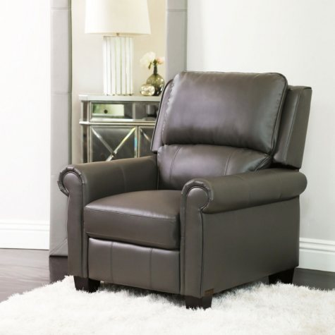 Gaila Pushback Leather Recliner (Assorted Colors)