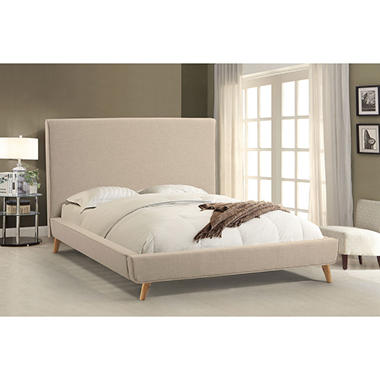 Vienna Ivory Upholstered Platform Bed (Assorted Sizes)