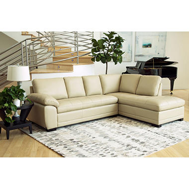 Westbury Top Grain Leather Sectional (Assorted Colors)