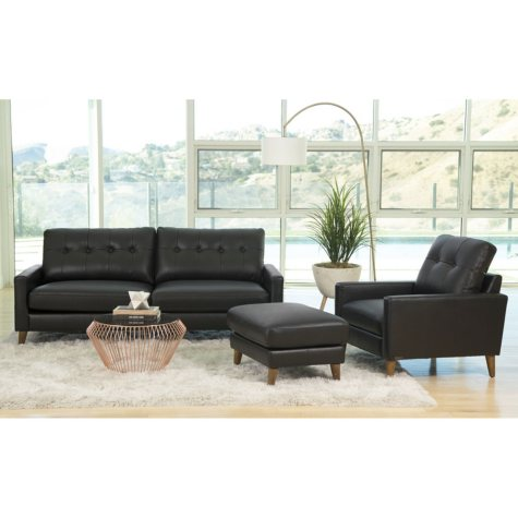 Carina Top Grain Leather 3-Piece Seating Set (Assorted Colors)