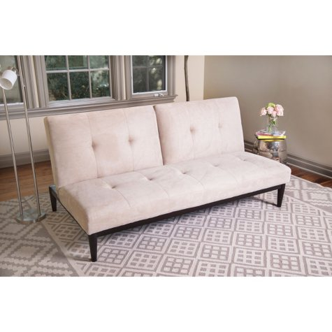 Laura Velvet Sofa Bed on Wood Base (Assorted Colors)