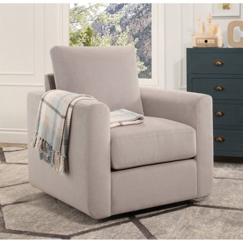 Aurora Fabric Swivel Chair (Assorted Colors)