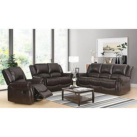 Matthew 3-Piece Reclining Sofa, Loveseat and Chair Set
