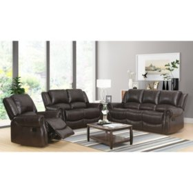 Matthew 3 Piece Reclining Sofa Loveseat And Chair